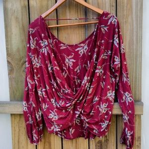 FREE PEOPLE FLORAL DRAPED BACK MED
